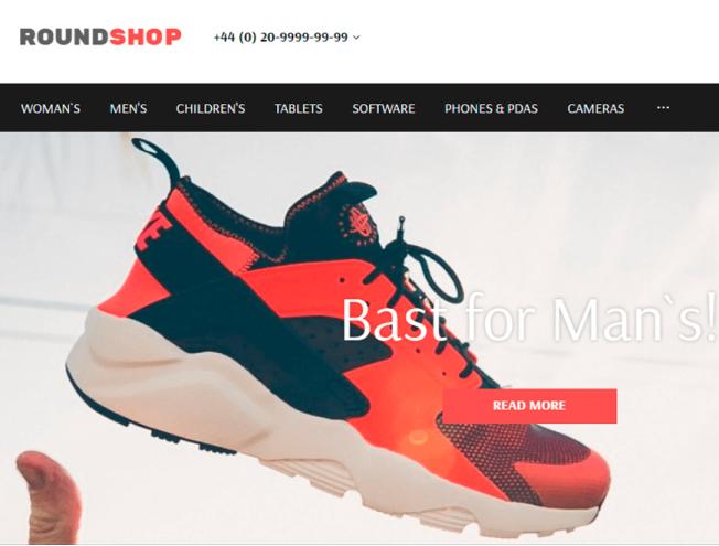 7ec095a78e1 Готовый сайт интернет-магазина на тему магазин обуви и одежды ...