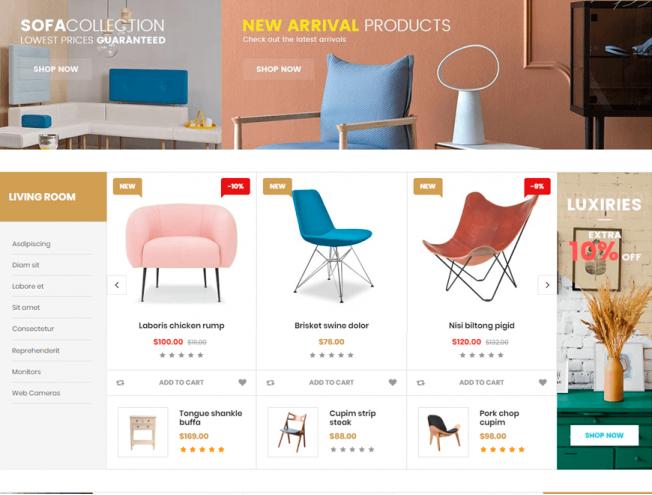 Готовый сайт интернет-магазина на тему каталог мебели - OneDayShop.ru 22c883ded51