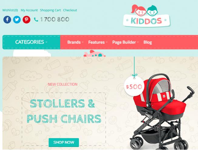 Готовый сайт интернет-магазина на тему магазин детской одежды ... 8c8d9af5548