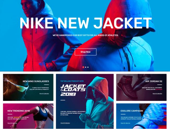Готовый сайт интернет-магазина на тему магазин спортивной одежды и ... 5b5c830d90a